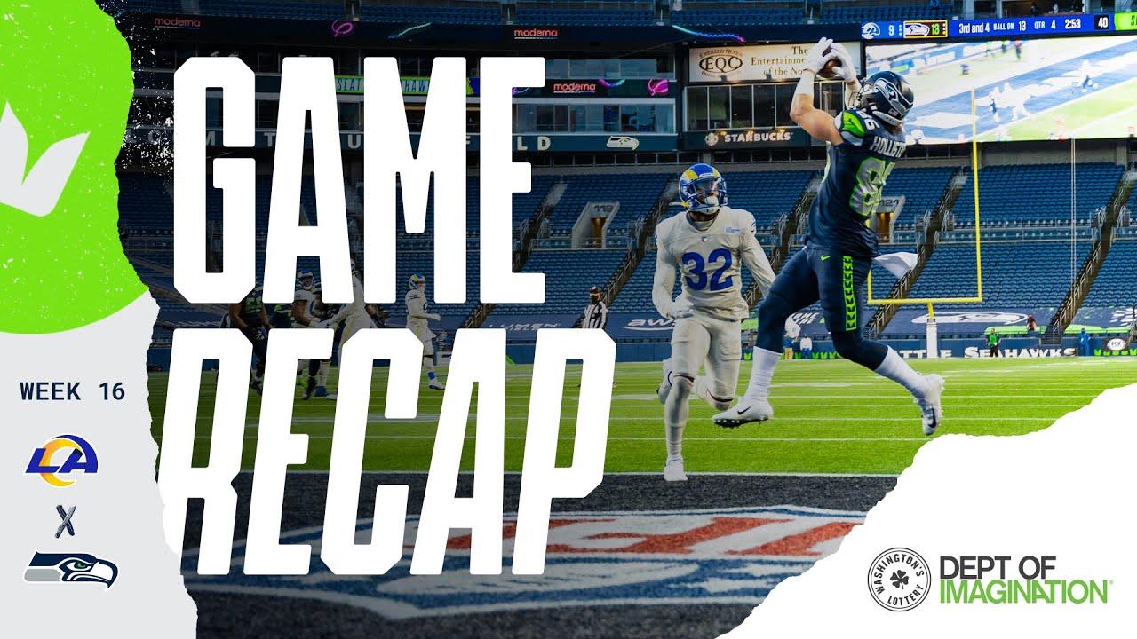 2020 Week 16 Seahawks Vs Rams Recap Youtube