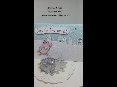 This little piggy hearts come home card stampin up