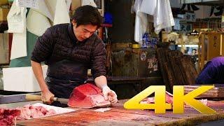 Tsukiji Fish Market - Tokyo - 築地市場 - 4K Ultra HD