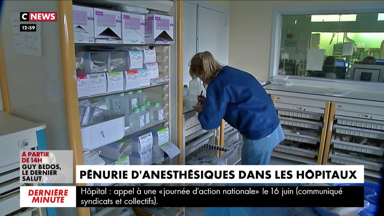 Santé : pénurie d'anesthésiques dans les hôpitaux
