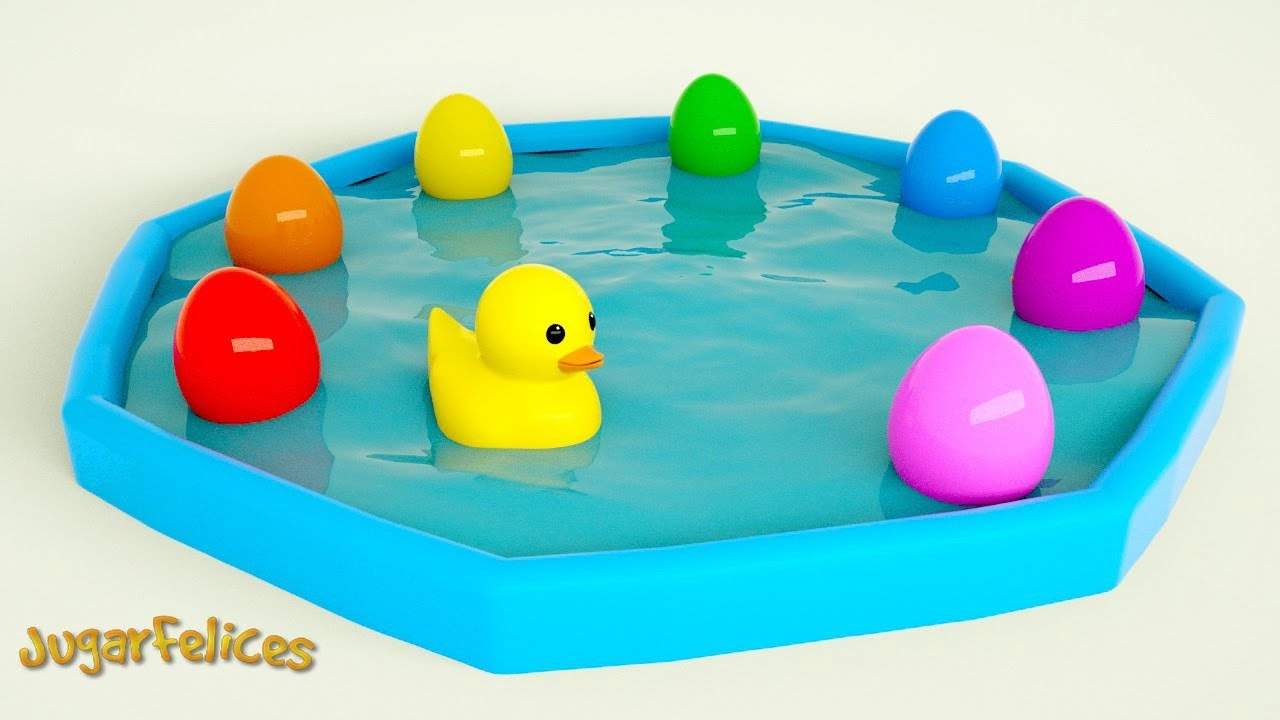 Patos de Goma en la Piscina | Learn Colors with Rubber Ducks For Toddlers
