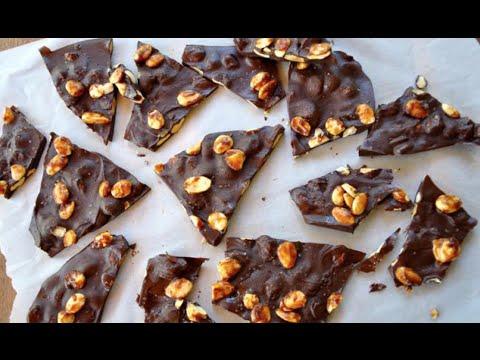 Paleo Dark Chocolate Glazed Almond Bark Recipe