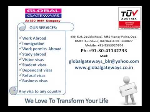 Work Abroad - Study Abroad - Visas and Immigration Consulatants and Services in Bangalore india