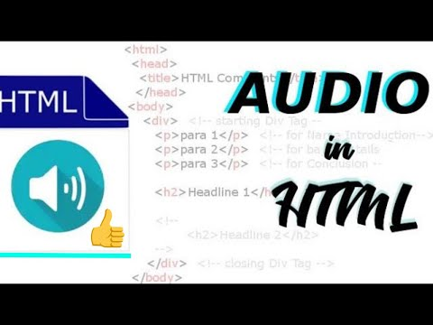 How To Insert Audio In HTML Using NotePad Text Editor