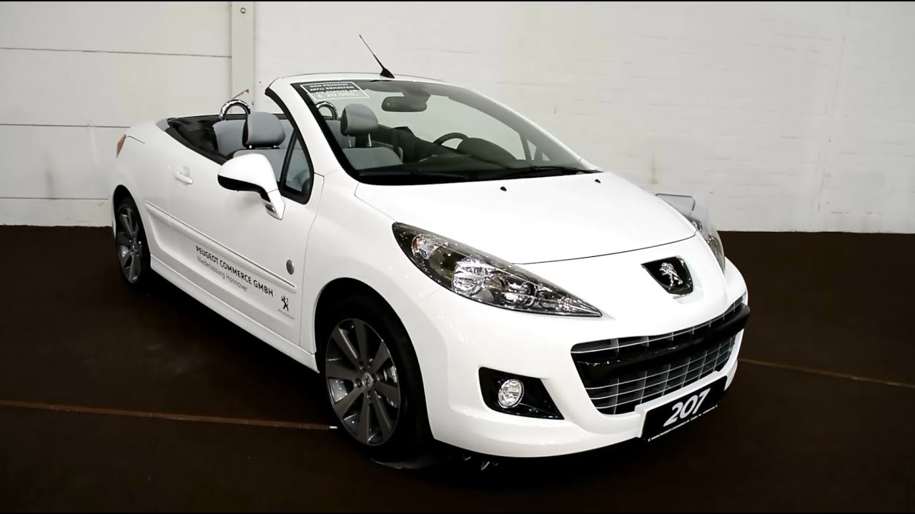 nuevos new peugeot 207 cc cabriolet cabrio youtube. Black Bedroom Furniture Sets. Home Design Ideas