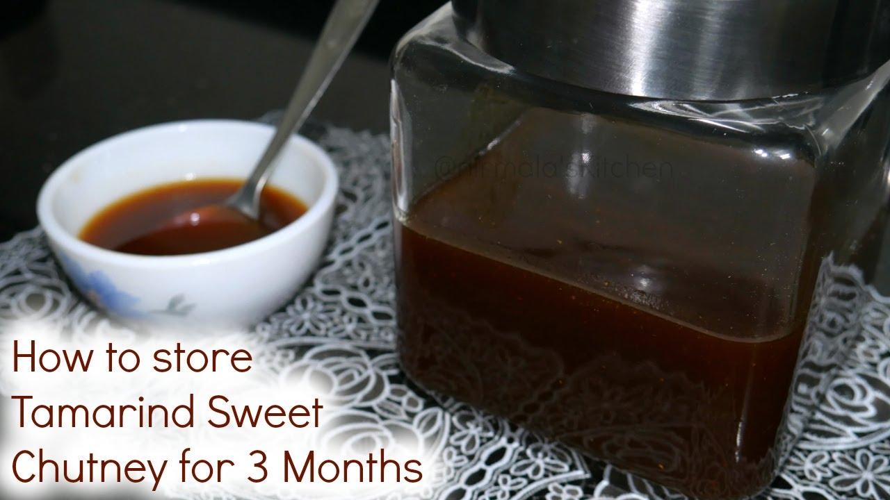 How To Store Tamarind Sweet Chutney For 3 Months Imli Ki