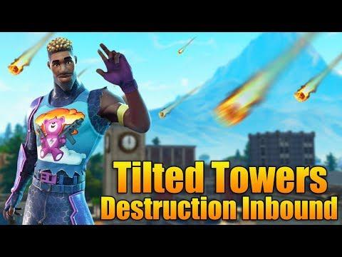 TILTED TOWERS DESTRUCTION INBOUND! -  Fortnite Season 4 Tomorrow  - Fortnite Battle Royale Gameplay thumbnail