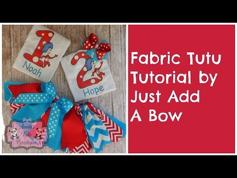 How To Make Fabric Tutu Tutoral By Just Add Bow