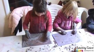 איך מערבבים צבע ודימיון - סדנאת ציור אינטואיטיבי עם ילדים - מיכל רביב splashing colors