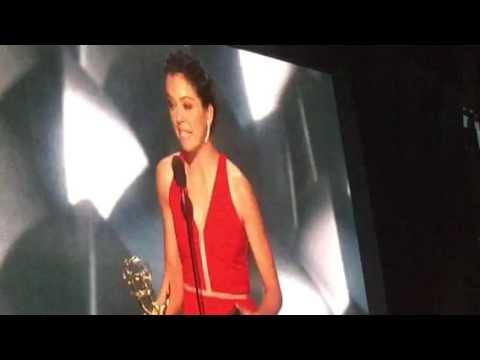 """Tatiana Maslany wins an Emmy and a guy from the audience yells: """"I love you, Tatiana!"""""""