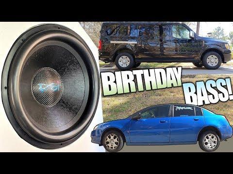 BIRTHDAY Subwoofer Blasting w/ 10,000 Watt Car Audio Installation & MASSIVE 18 inch Platform 5 Subs