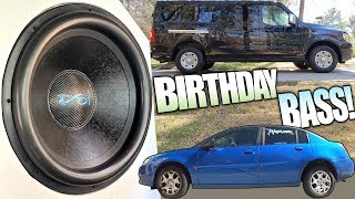BIRTHDAY Subwoofer Blasting w/ 10,000 Watt Car Audio Installation & MASSIVE 18 inch Platform 5 Subs