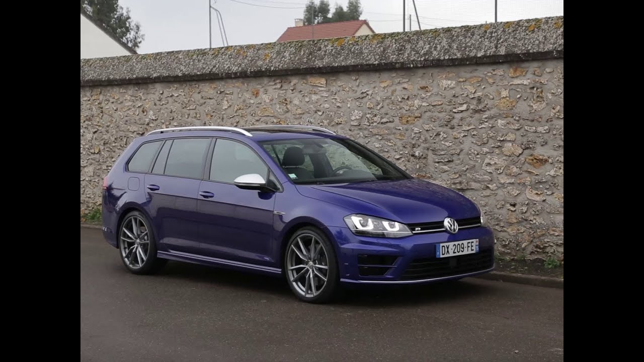 essai volkswagen golf sw r 2016 youtube. Black Bedroom Furniture Sets. Home Design Ideas