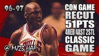Michael Jordan Highlights vs Knicks (1997.01.21) - 51pts, CON GAME in 1080p!