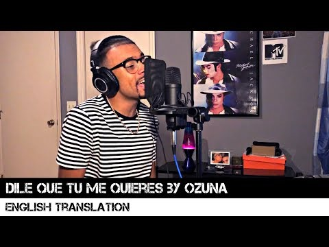 Dile Que Tu Me Quieres by Ozuna (English Translation)