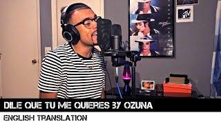 Dile Que Tu Me Quieres by Ozuna (English Translation)