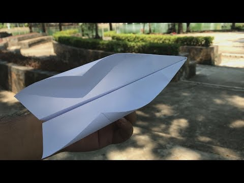 How to make paper airplane that flies for a long time - Paper Airplane That FLIES FAR  #17
