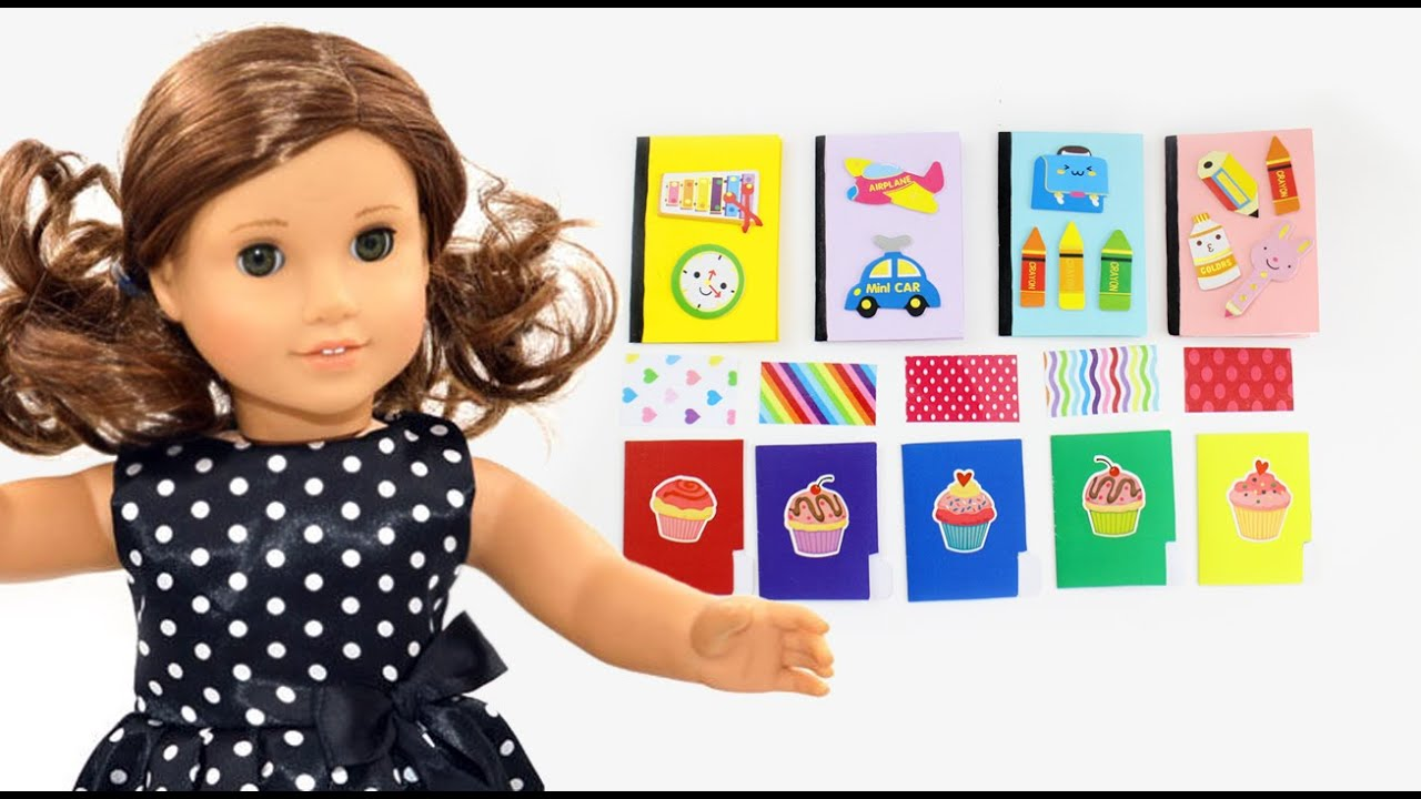 Make AMERICAN GIRL NOTEBOOKS Folders And Color Paper