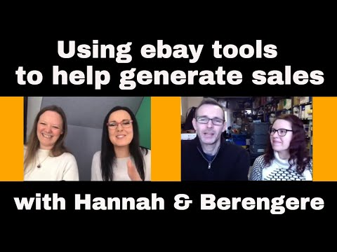 Selling On Ebay - Tools To Help Generate Sales - We Chat With Hannah & Berengere From Ebay