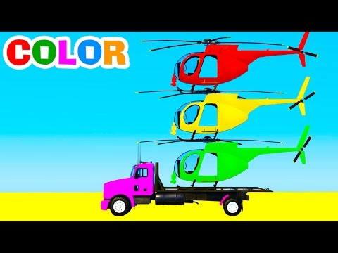 Thumbnail: Learn Color Helicopter - Spiderman Cars Cartoon for Kids w Colors for Children & Nursery Rhymes