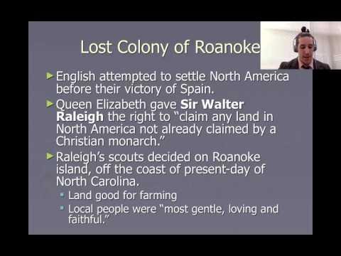 Early English Settlements, Roanoke