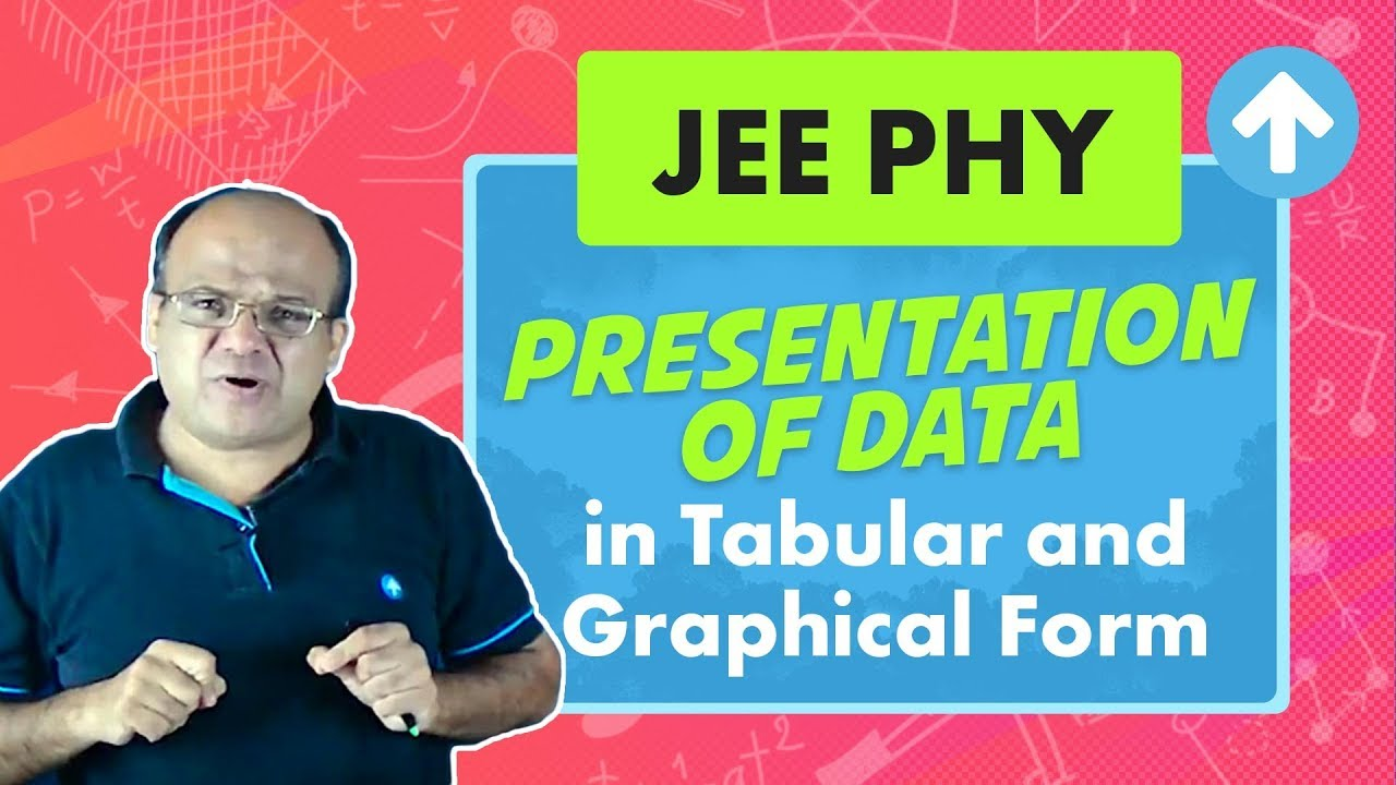 Presentation of Data in Tabular and Graphical Form | JEE Physics | Measurement and Errors | English