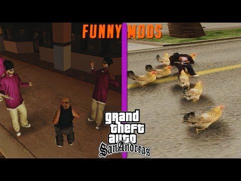 GTA San Andreas Top 5 Funny Mods 2018
