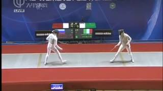 Foil Fencing World Cup 2012 Shanghai Volpi Alice vs Shanaeva Aida.mp4