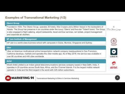 Transnational Marketing