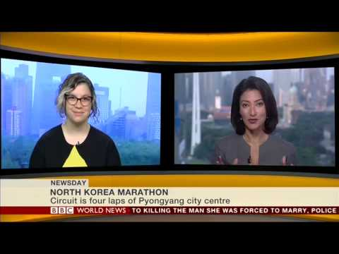 Vicky Talks About the Pyongyang Marathon on the BBC