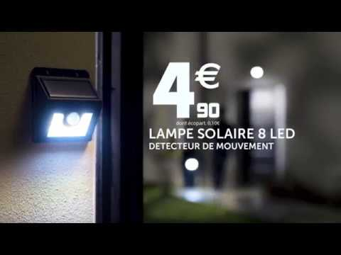 La lampe solaire led gifi youtube for Projecteur gifi