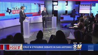 Sen. Cruz, Rep. O'Rourke Trade Barbs In U.S. Senate Debate In San Antonio