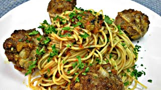 Spaghetti with Meatballs - Homemade Spaghetti Sauce Recipe - PoorMansGourmet