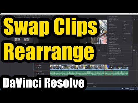 How to Swap/Rearrange clips on the timeline (DaVinci Resolve)