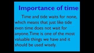 #importanceoftime #timeessayinenglish #timeessay #essayontime #englishessay #smilepleaseworld