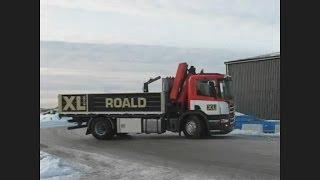Крана манипулятора с горки по скользкой дороге.(Scania с краном манипулятором palfinger дртифтует на сколской дороге. Грузовая машина гололёд дрифт. Кран манипул..., 2013-12-06T17:41:44.000Z)