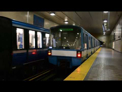 Montreal Metro: All 3 Models on the Green Line MR-63 / MR-73 / MPM-10