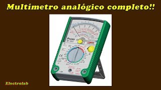 Multímetro analógico - Review Pro'sKit MT 2017