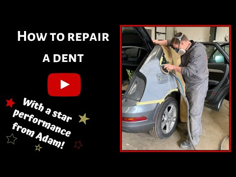 HOW TO REPAIR A BAD DENT!! Car Bodywork Repairs, Dent Removal, Paint Repairs To Audi Q3