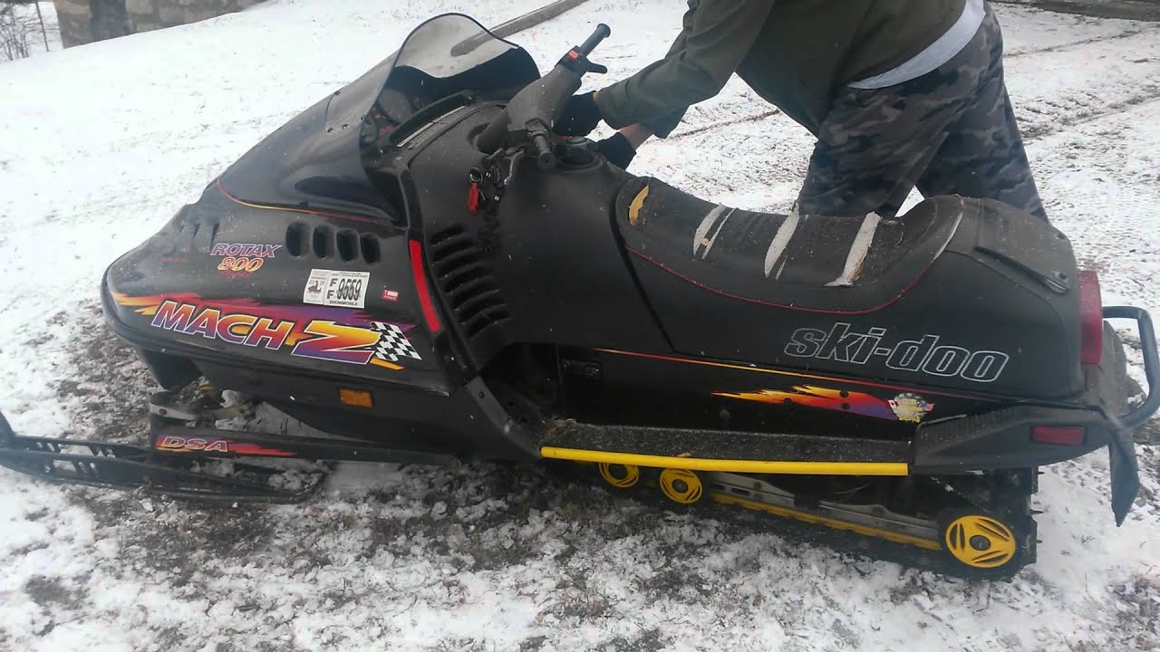 1997 ski doo mach z 800 triple cold start youtube sciox Images