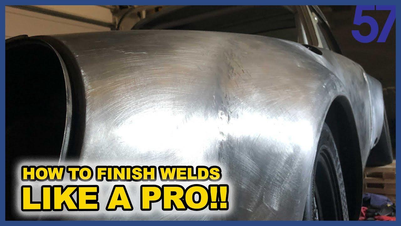 ** HOW TO ** Finish Welds LIKE A PRO!! | Subaru Porsche Engine Swap Blasphemy Build 57