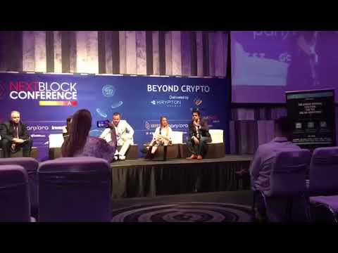 Kishore M announcing Soft Launch of Future1Exchange at NextBlock Conference in Bangkok