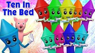 Десять в постели | узнать номера в россии | детская песня | Ten In The Bed