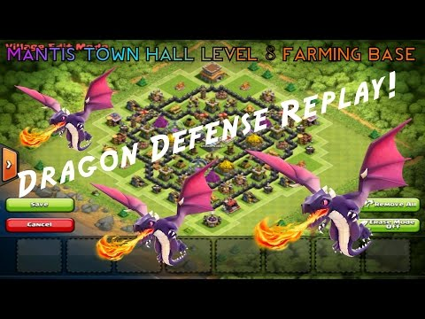 Clash Of Clans | Defensive Replays 2.0 | Mantis Town Hall Level 8 Farming Base