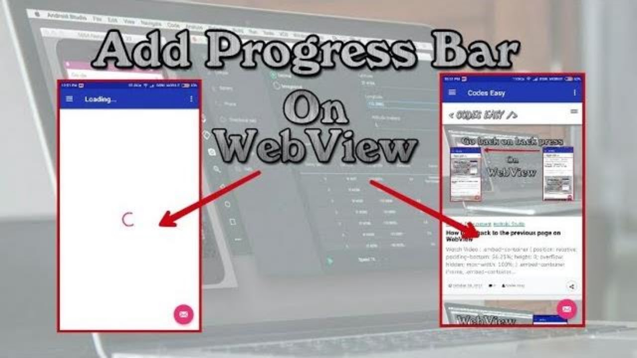 Add Progress Bar On WebView - Android Studio Tutorial
