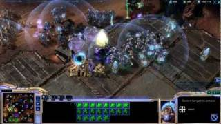 Starcraft 2 Online Gameplay - First Person 4v4 - EPIC !!