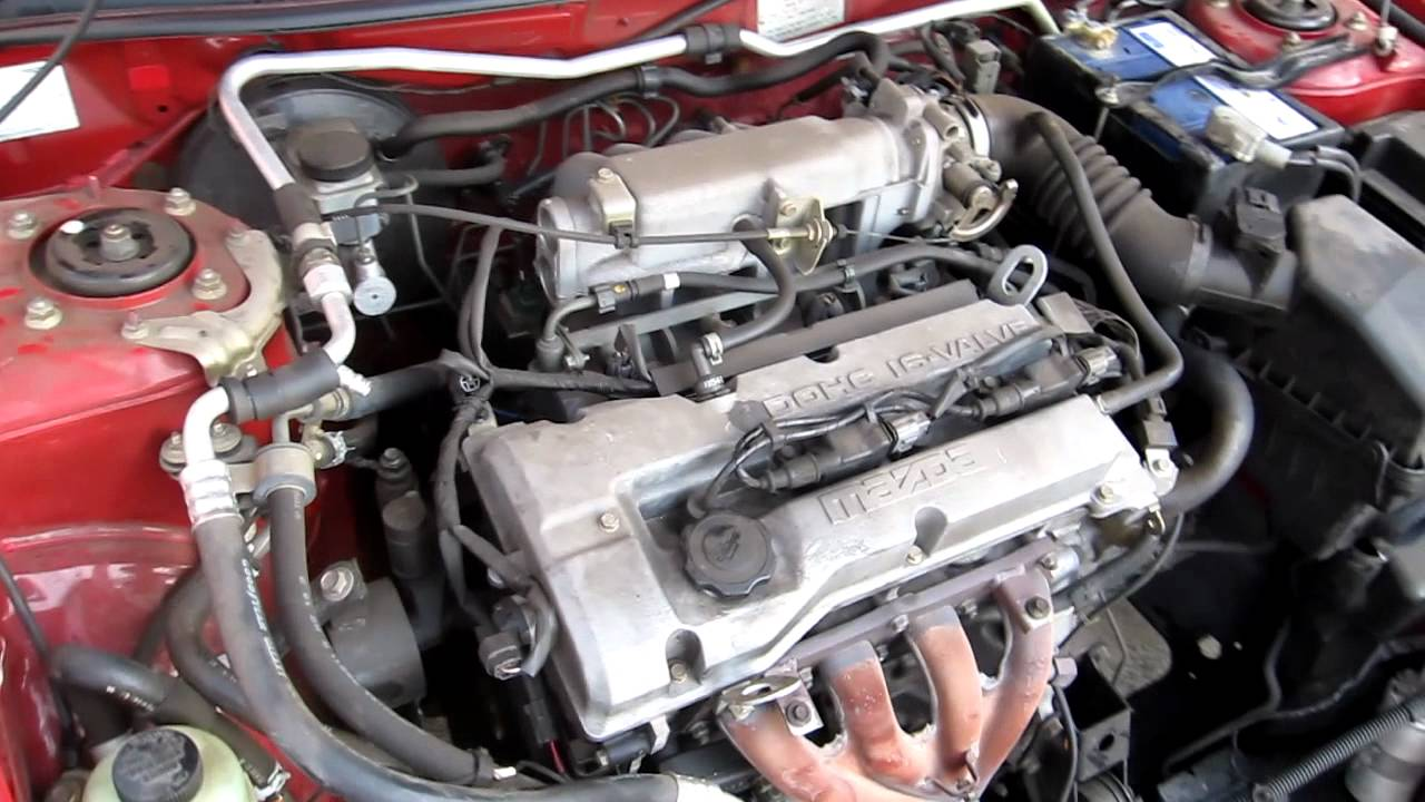 1998 Mazda Astina 323 Bj 1 6l 4cyl Engine Running