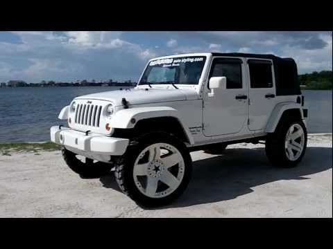 All white Jeep wrangler jk 4 door by Underground autostyling Sarasota FL 24