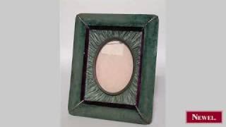 Antique American Victorian Blue Velvet Easel Picture Frame