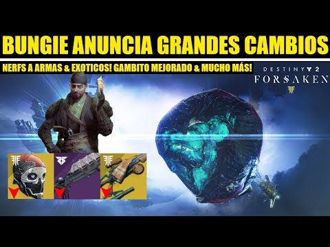 Destiny 2: Bungie Hace Grandes Cambios! Temporada 6! Nerfs Exóticos! Armas! & Gambito Mejorado! thumbnail